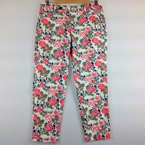 Dockers Pants Women 6 Chino Cropped Stretch Floral